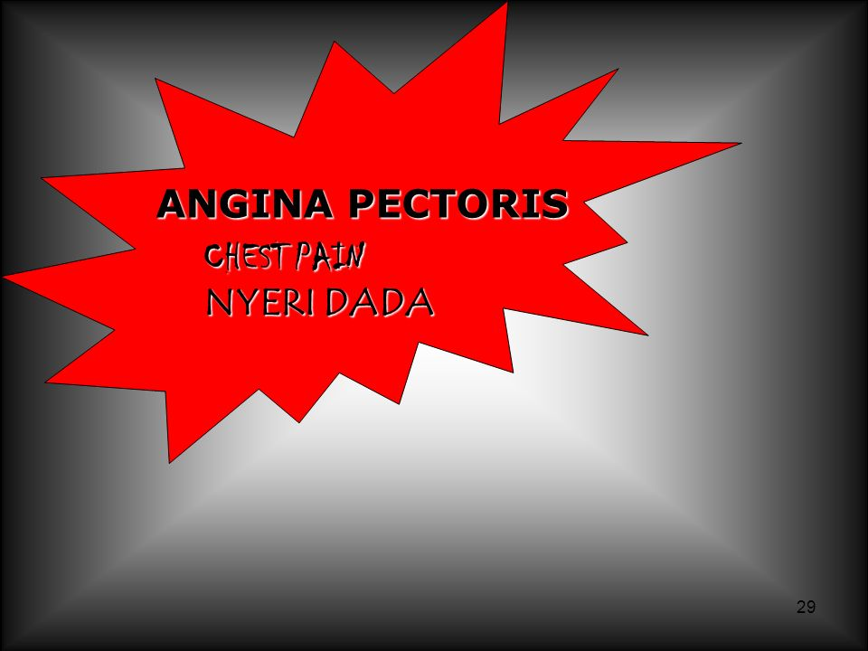 ANGINA PECTORIS CHEST PAIN NYERI DADA