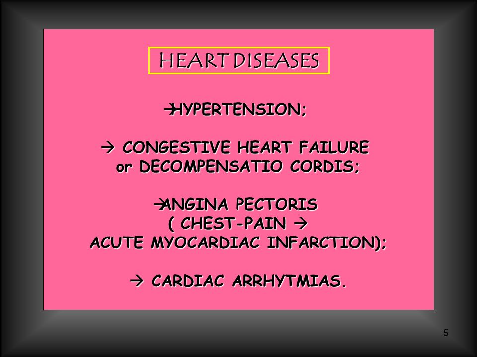 HEART DISEASES HYPERTENSION;  CONGESTIVE HEART FAILURE