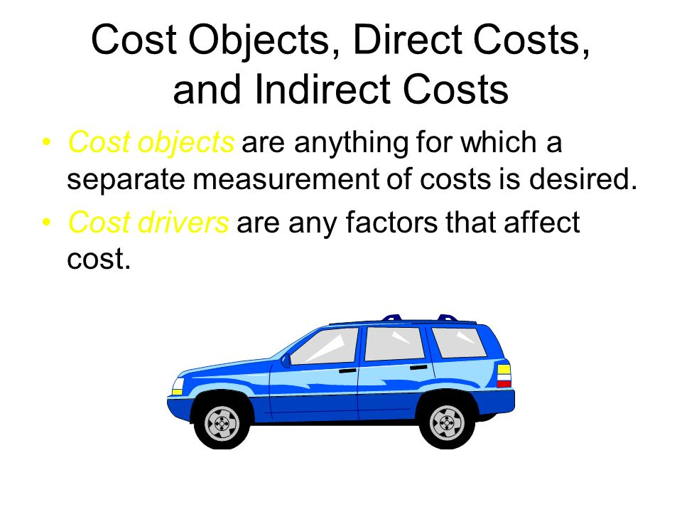 Cost Objects, Direct Costs, and Indirect Costs