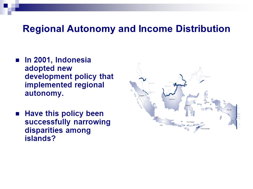 Regional Autonomy and Income Distribution