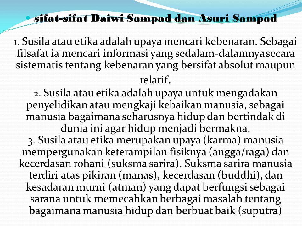 sifat-sifat Daiwi Sampad dan Asuri Sampad 1