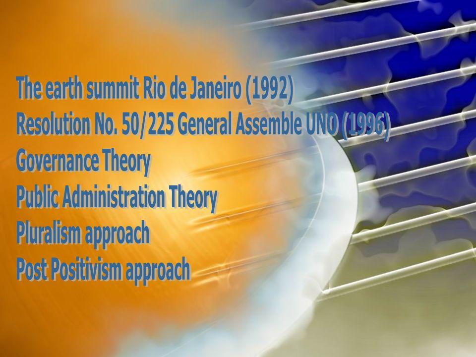 The earth summit Rio de Janeiro (1992)