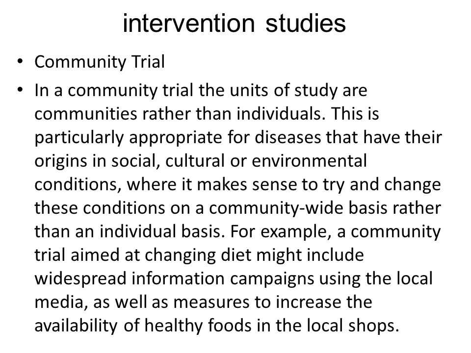 intervention studies Community Trial