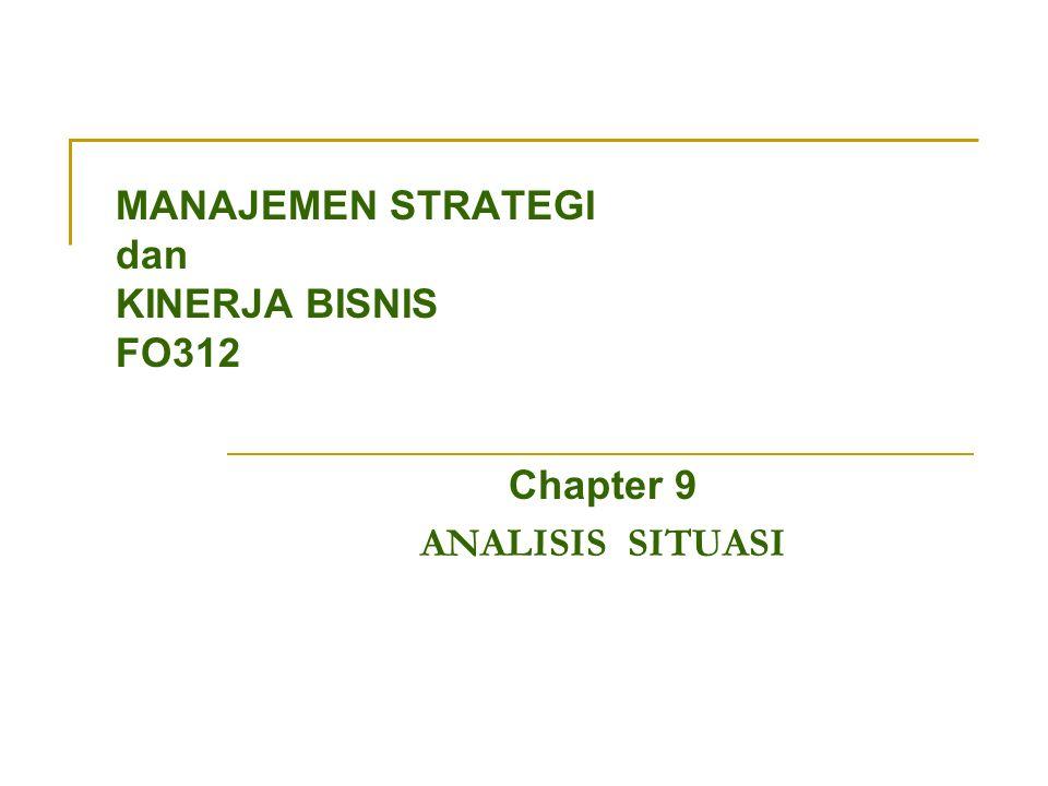 MANAJEMEN STRATEGI dan KINERJA BISNIS FO312