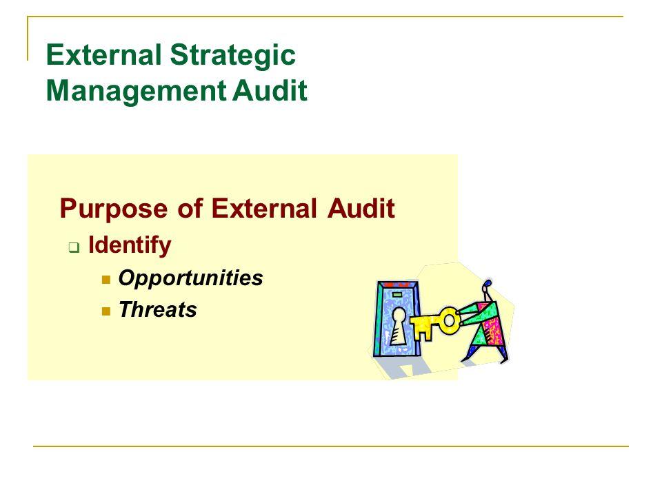 External Strategic Management Audit
