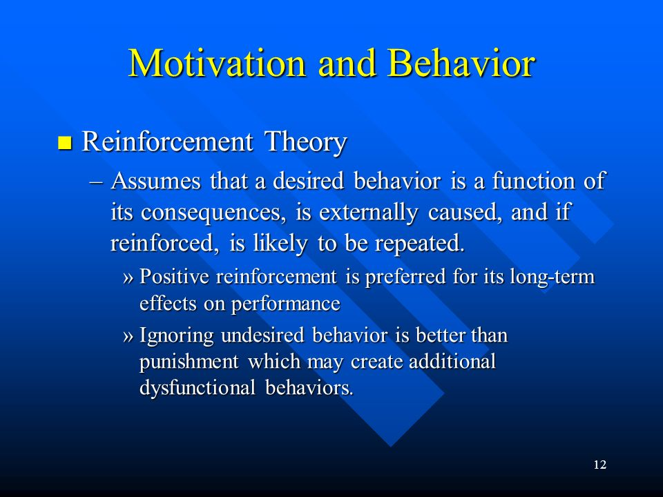 Motivation and Behavior