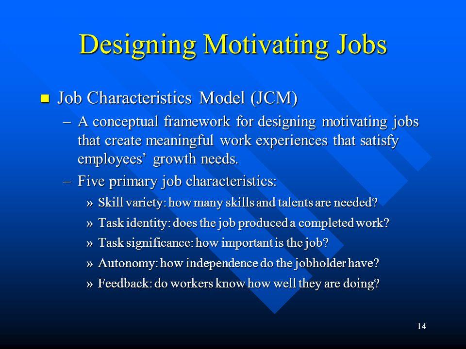 Designing Motivating Jobs