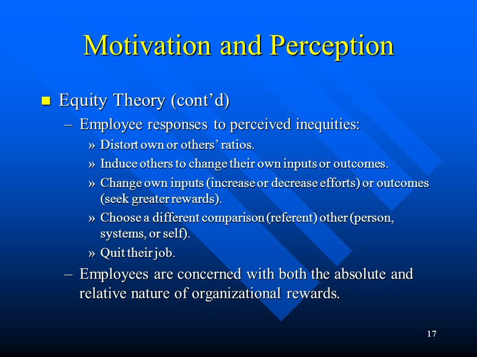 Motivation and Perception
