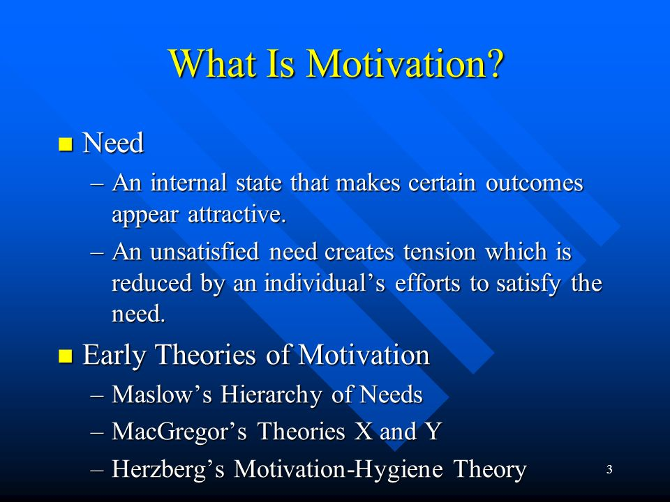 What Is Motivation Need Early Theories of Motivation