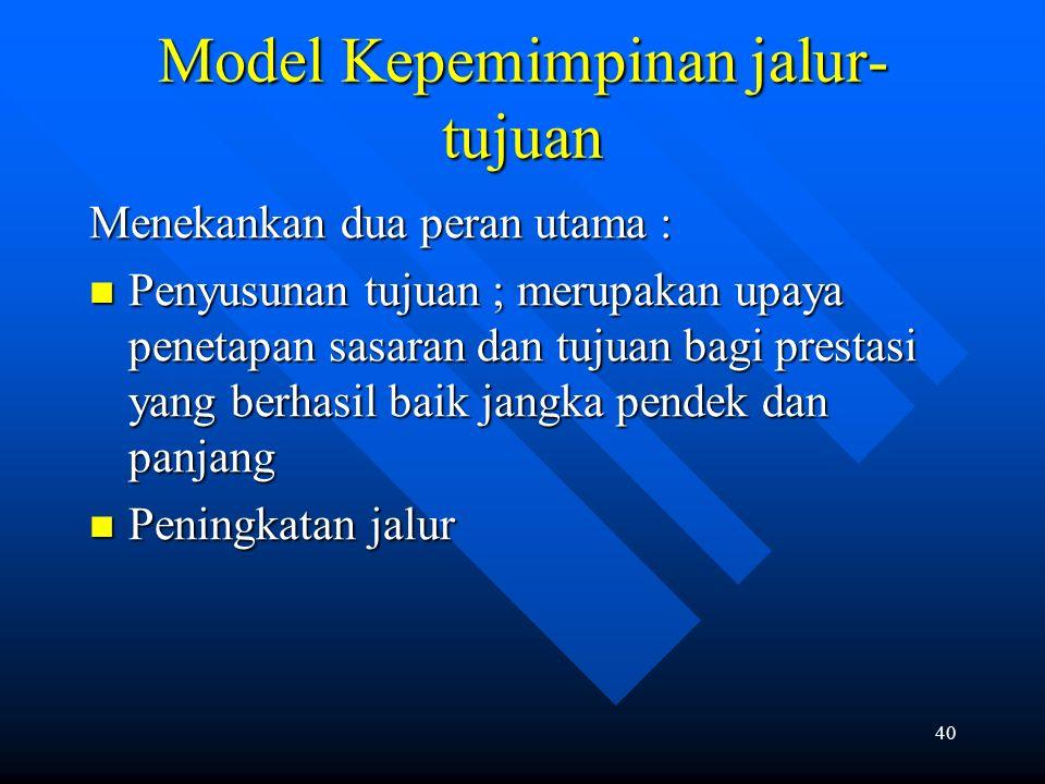 Model Kepemimpinan jalur-tujuan