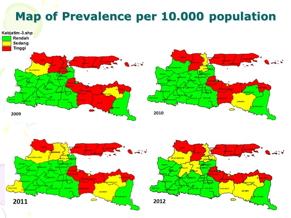 Map of Prevalence per 10.000 population