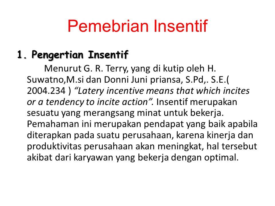Pemebrian Insentif