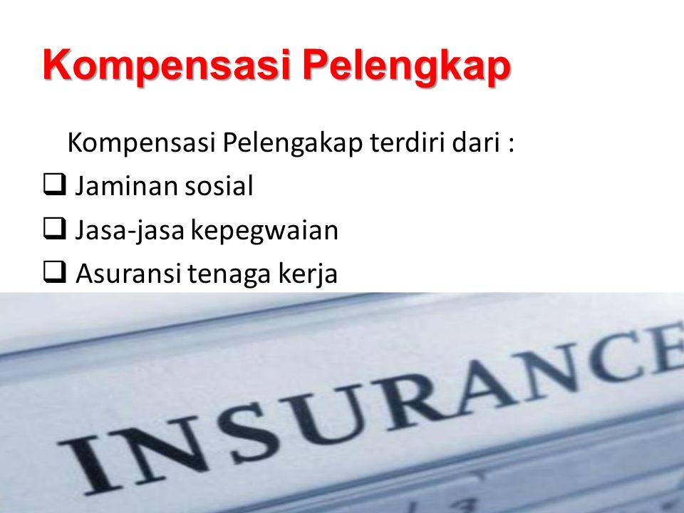 Kompensasi Pelengkap Kompensasi Pelengakap terdiri dari :