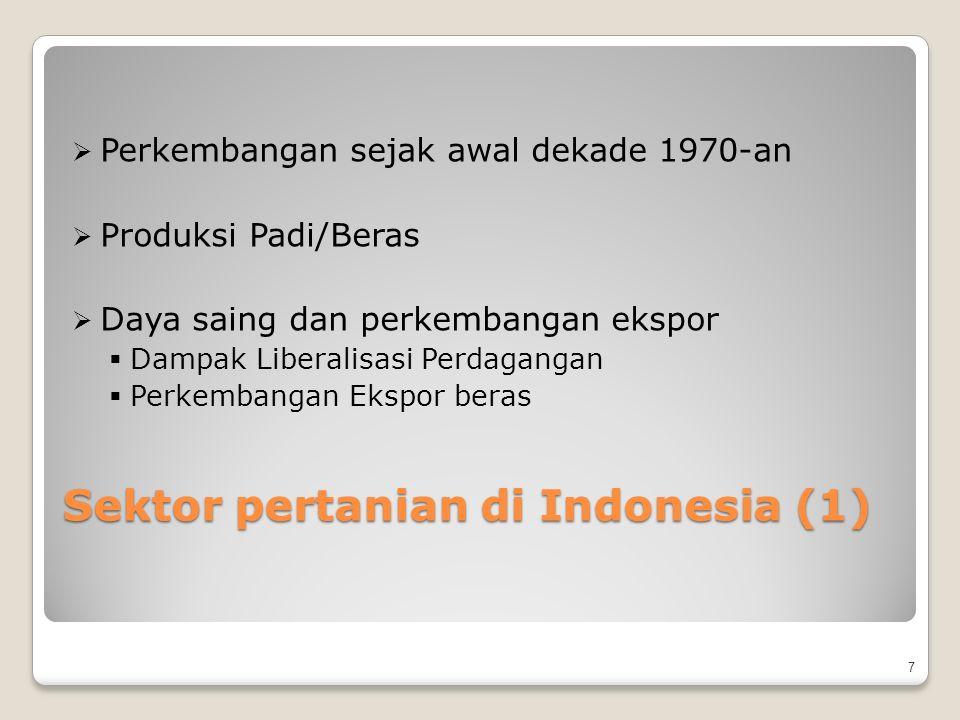 Sektor pertanian di Indonesia (1)