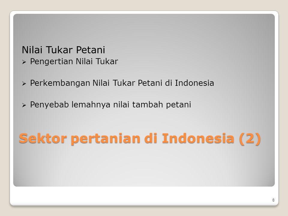 Sektor pertanian di Indonesia (2)