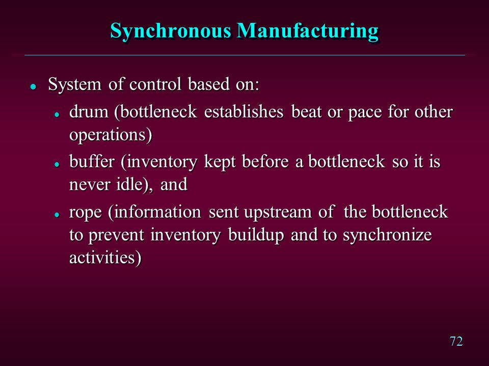 Synchronous Manufacturing
