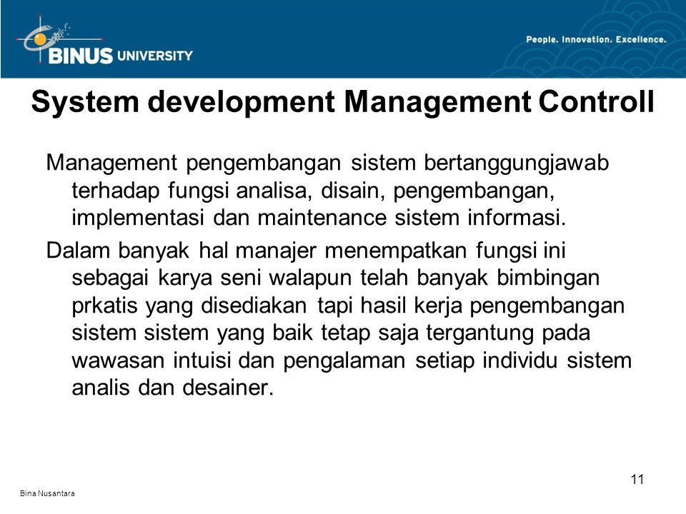 System development Management Controll