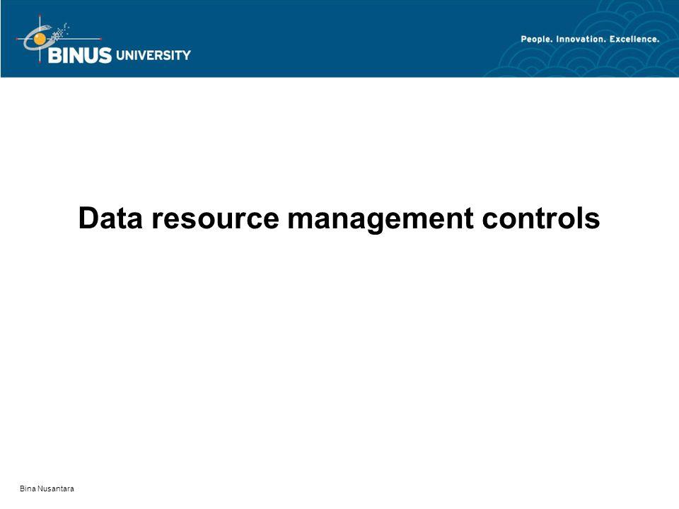 Data resource management controls