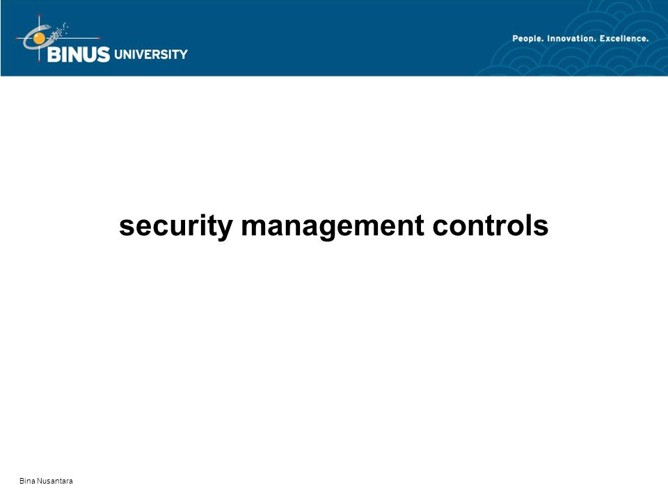 security management controls