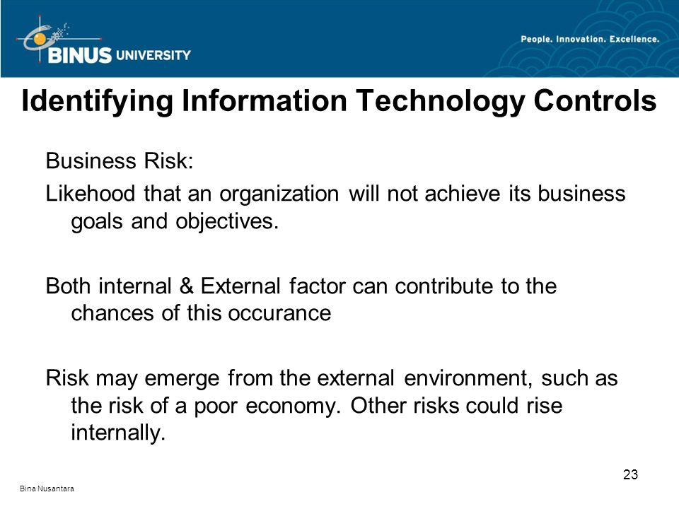 Identifying Information Technology Controls