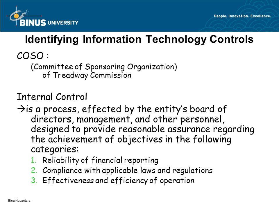 Identifying Information Technology Controls