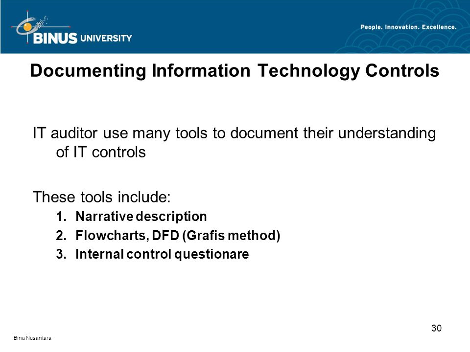 Documenting Information Technology Controls