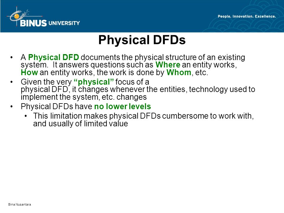 Physical DFDs