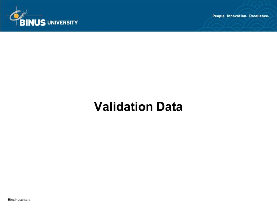 Validation Data Bina Nusantara