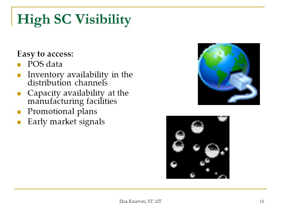 High SC Visibility Easy to access: POS data