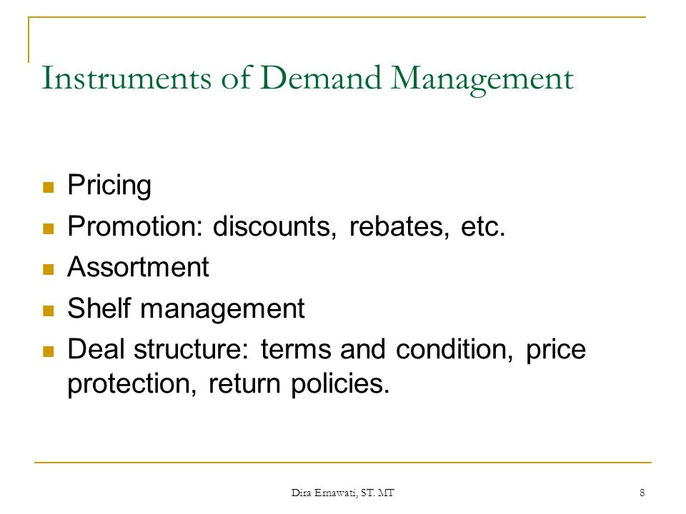 Instruments of Demand Management