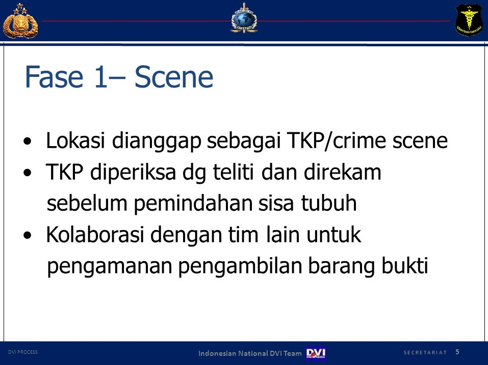 • Lokasi dianggap sebagai TKP/crime scene