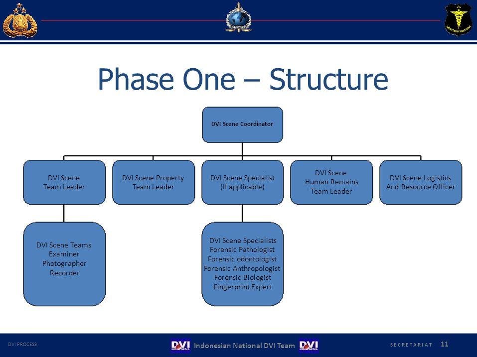 Phase One – Structure DVI Scene Coordinator DVI Scene DVI Scene