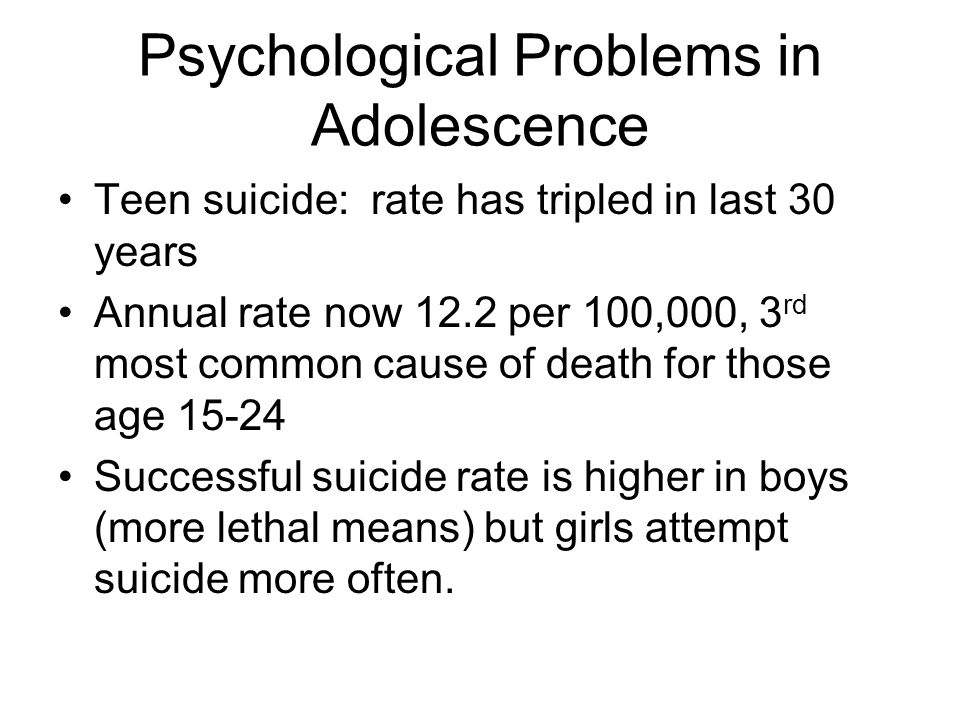 Psychological Problems in Adolescence