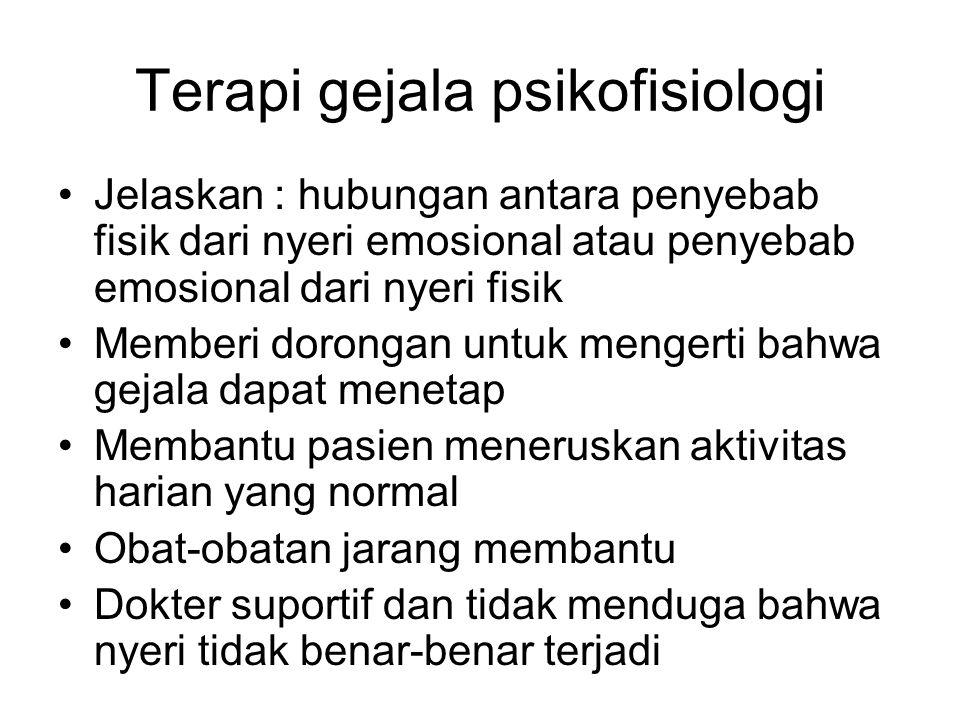 Terapi gejala psikofisiologi