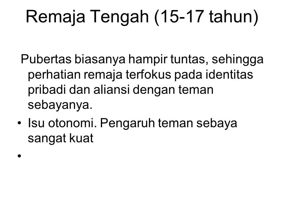 Remaja Tengah (15-17 tahun)