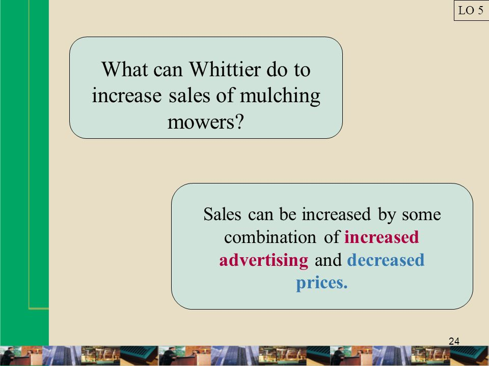 What can Whittier do to increase sales of mulching mowers