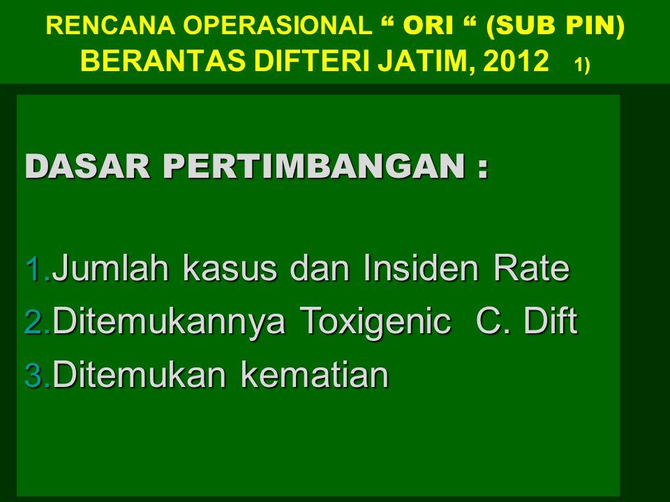 RENCANA OPERASIONAL ORI (SUB PIN) BERANTAS DIFTERI JATIM, 2012 1)