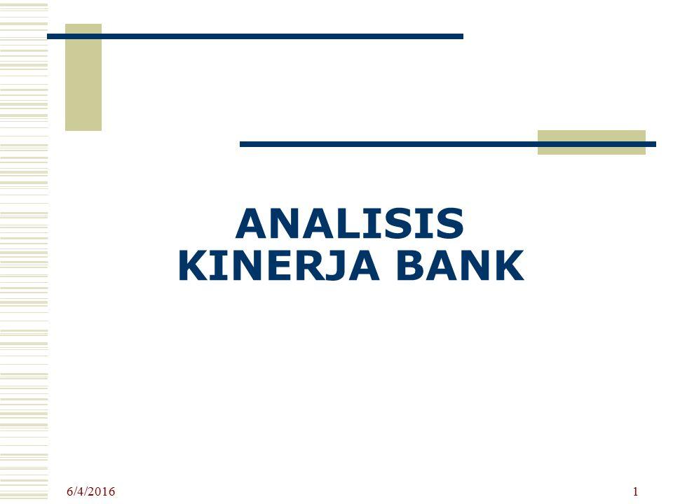 ANALISIS KINERJA BANK 4/24/2017