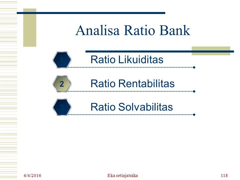 Analisa Ratio Bank Ratio Likuiditas Ratio Rentabilitas