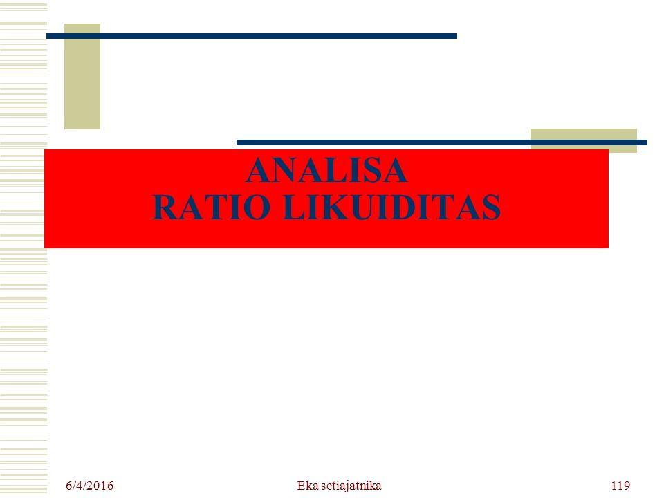 ANALISA RATIO LIKUIDITAS