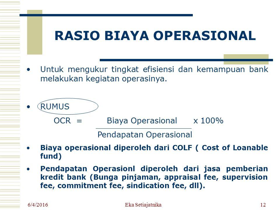 RASIO BIAYA OPERASIONAL