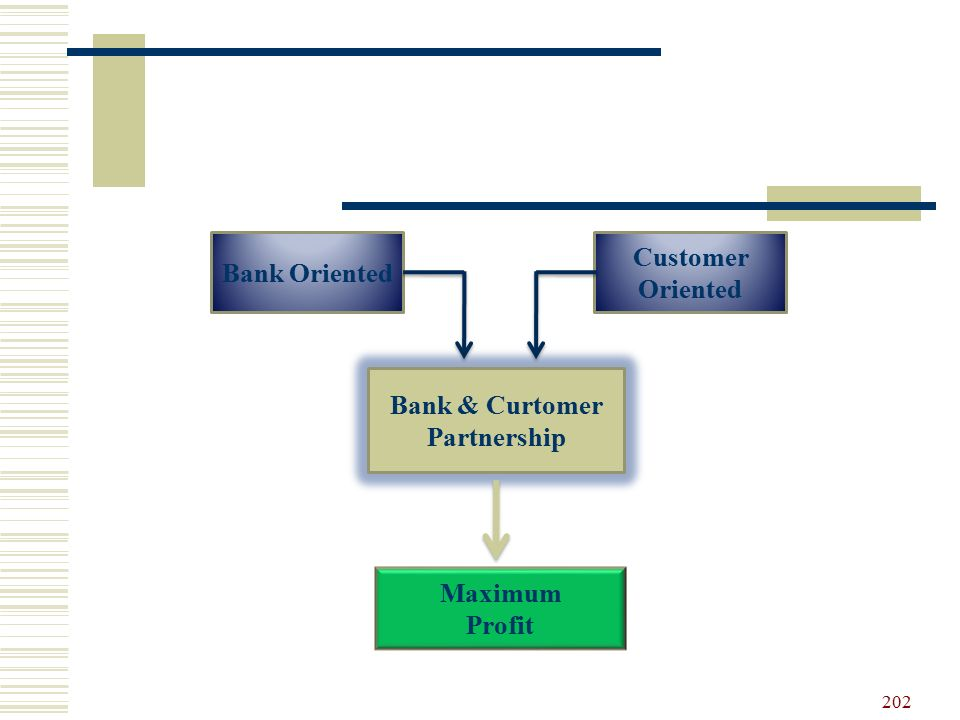 Bank Oriented Customer Oriented Bank & Curtomer Partnership Maximum Profit