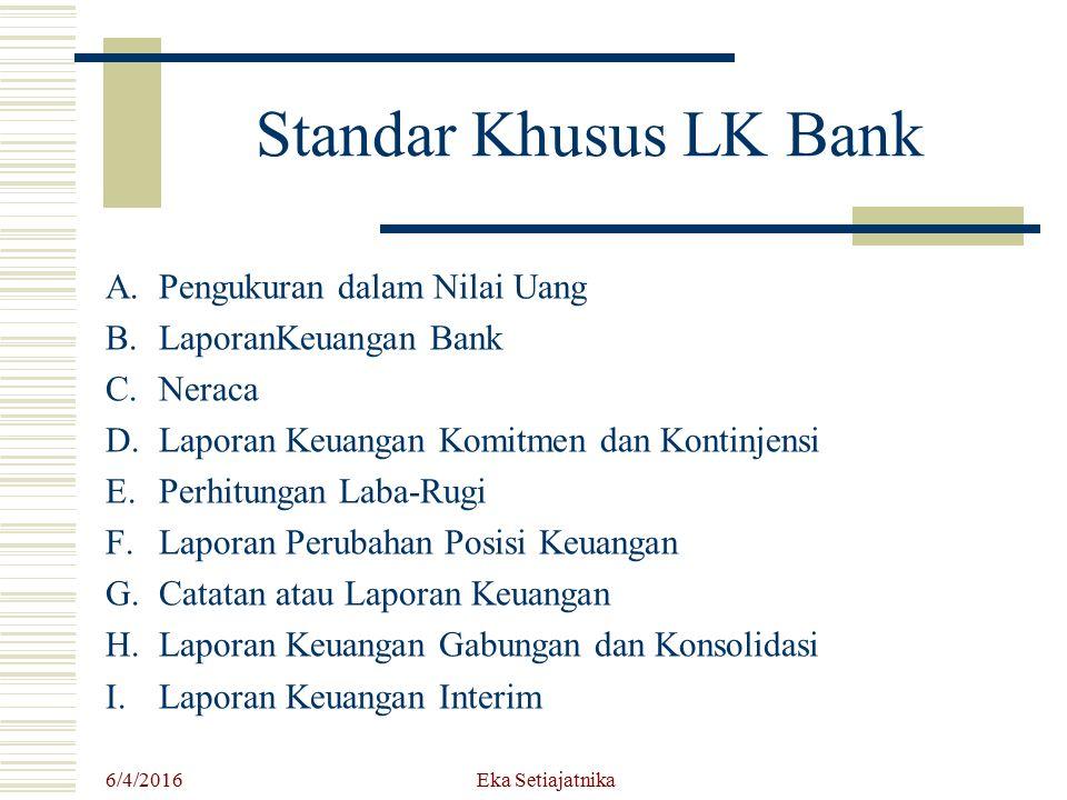 Standar Khusus LK Bank Pengukuran dalam Nilai Uang