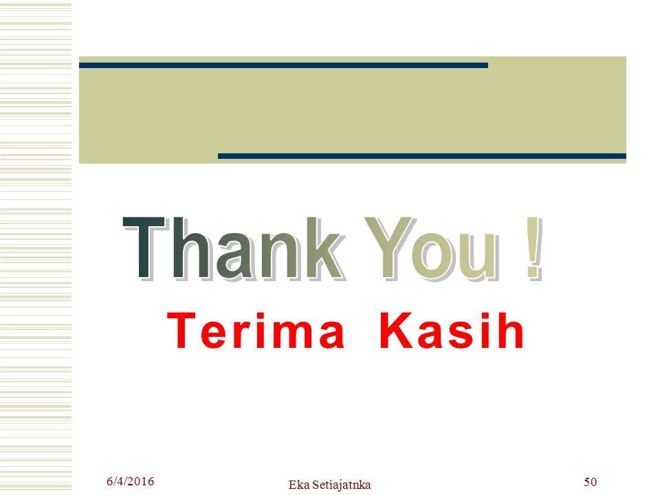 Thank You ! Terima Kasih 4/24/2017 Eka Setiajatnka