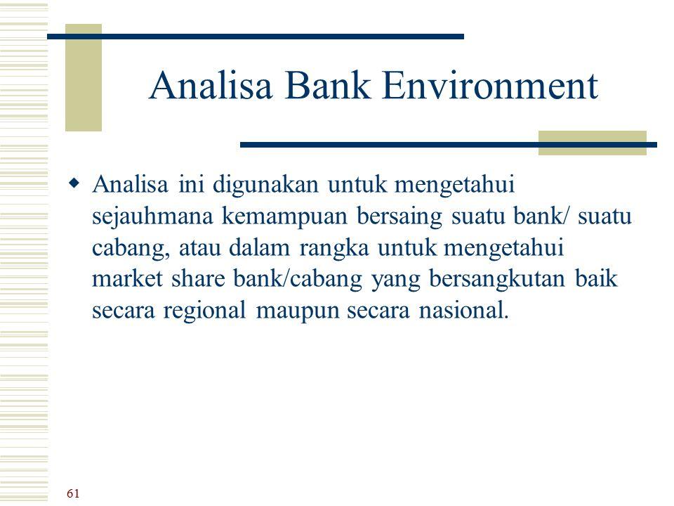 Analisa Bank Environment
