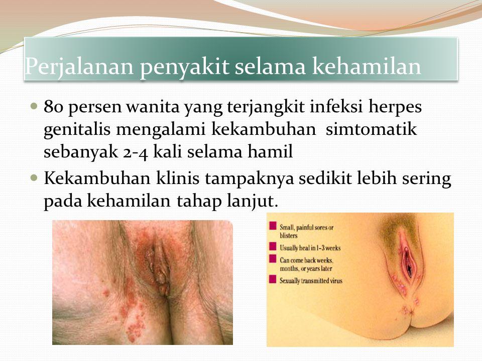 Perjalanan penyakit selama kehamilan