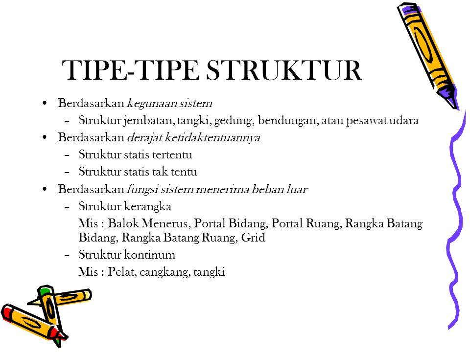 TIPE-TIPE STRUKTUR Berdasarkan kegunaan sistem