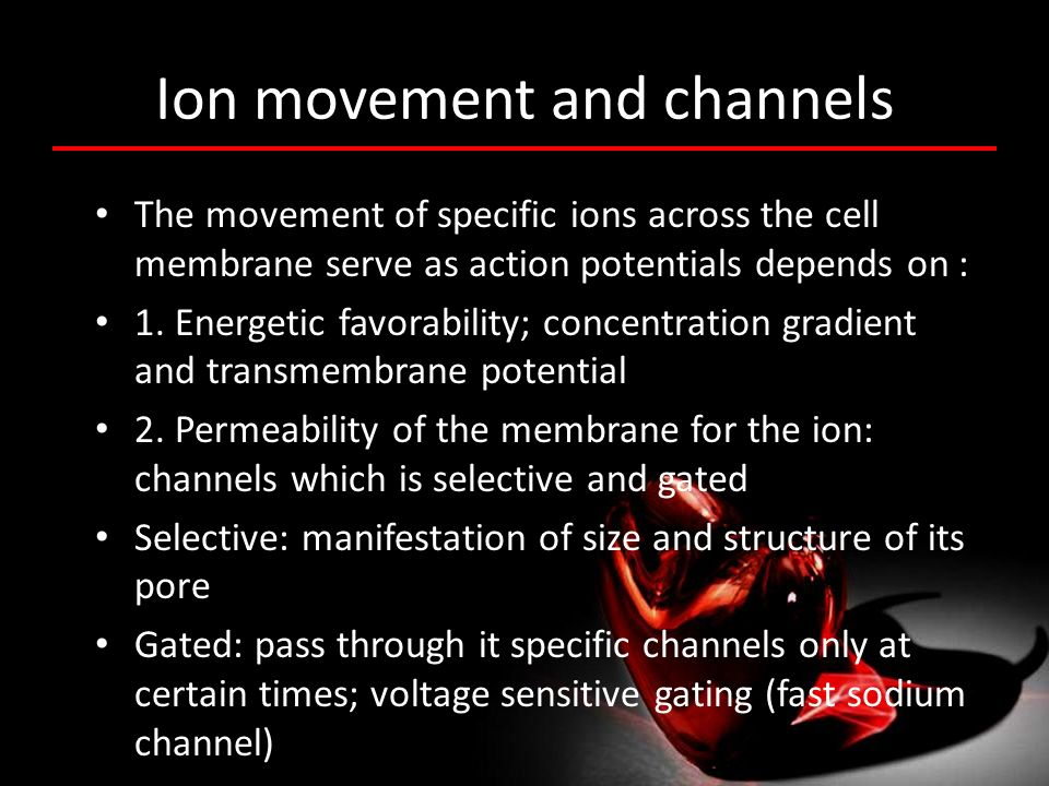 Ion movement and channels