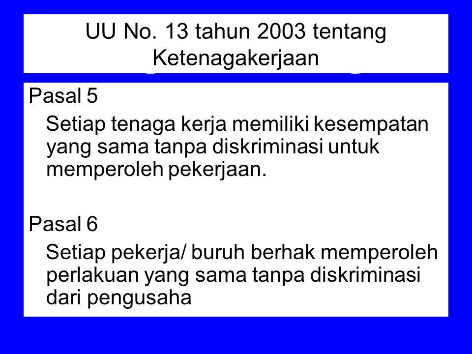 UU No. 13 tahun 2003 tentang Ketenagakerjaan