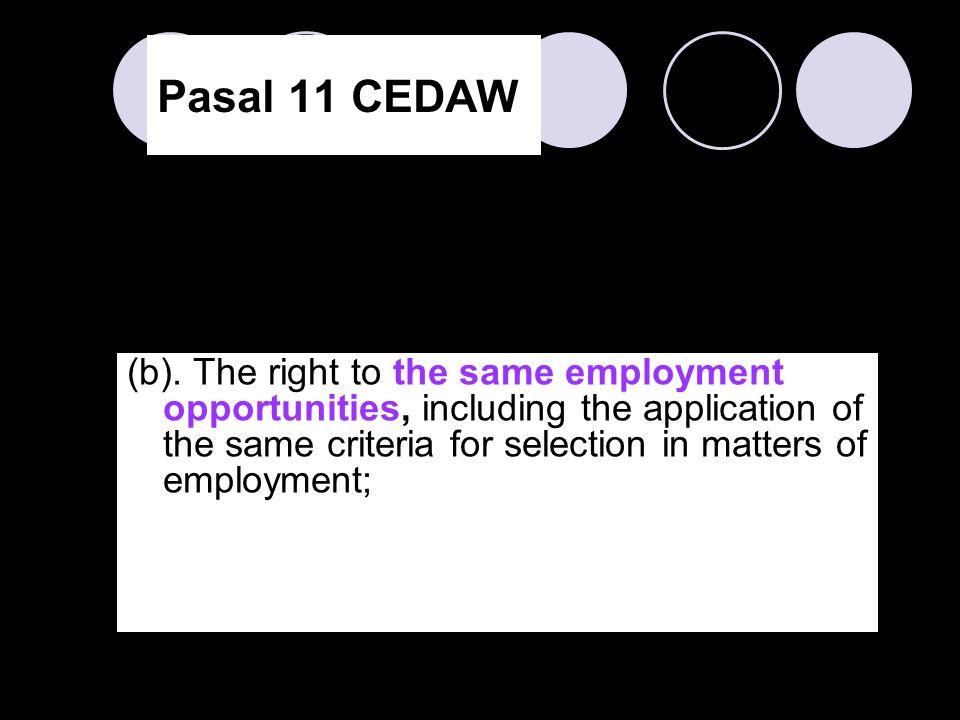 Pasal 11 CEDAW